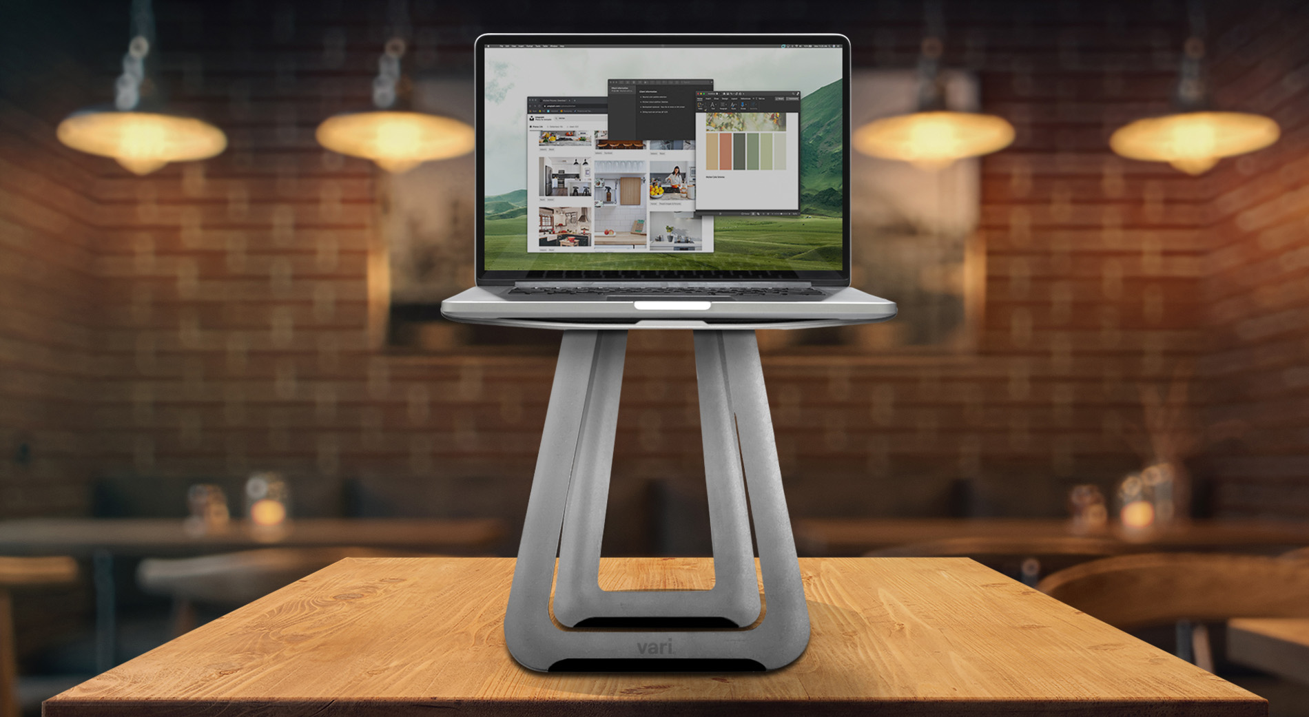 Calling all road warriors, coffee shop creatives, digital nomads, and mobile mavens: You can now work elevated from anywhere with the VariDesk Portable Laptop Stand.