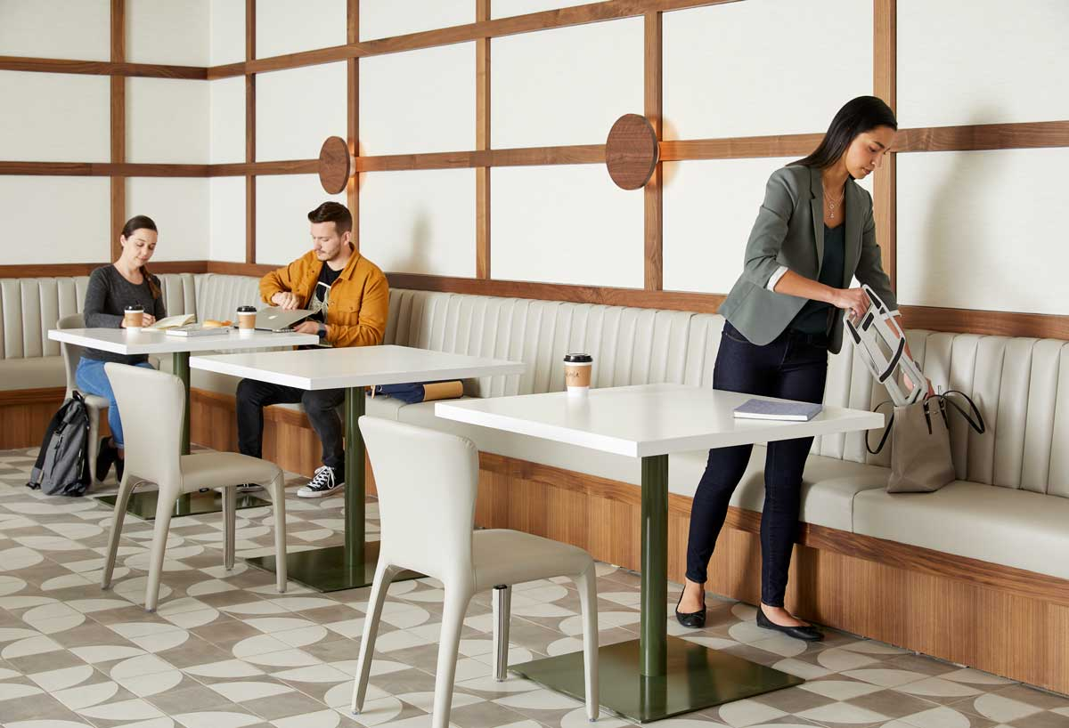 Designed to fit into a bag or backpack, the Portable Laptop Stand lets you work while standing. It's ergonomically designed to help you add movement to your day, offering health benefits.