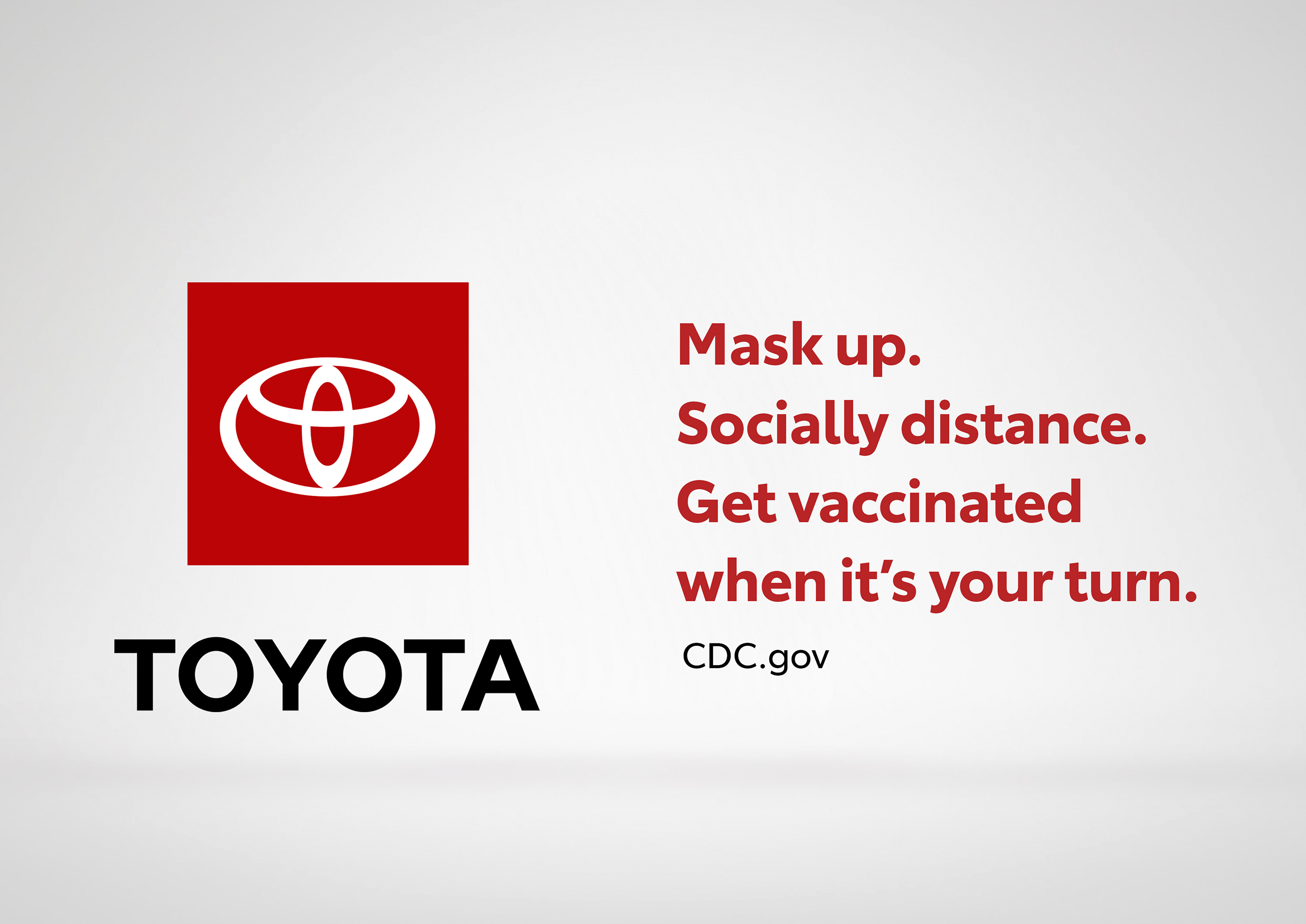 """A five-second """"billboard"""" by Toyota encourages people to think about the impact they have on those around them and follow Centers for Disease Control and Prevention (CDC) COVID-19 guidelines."""
