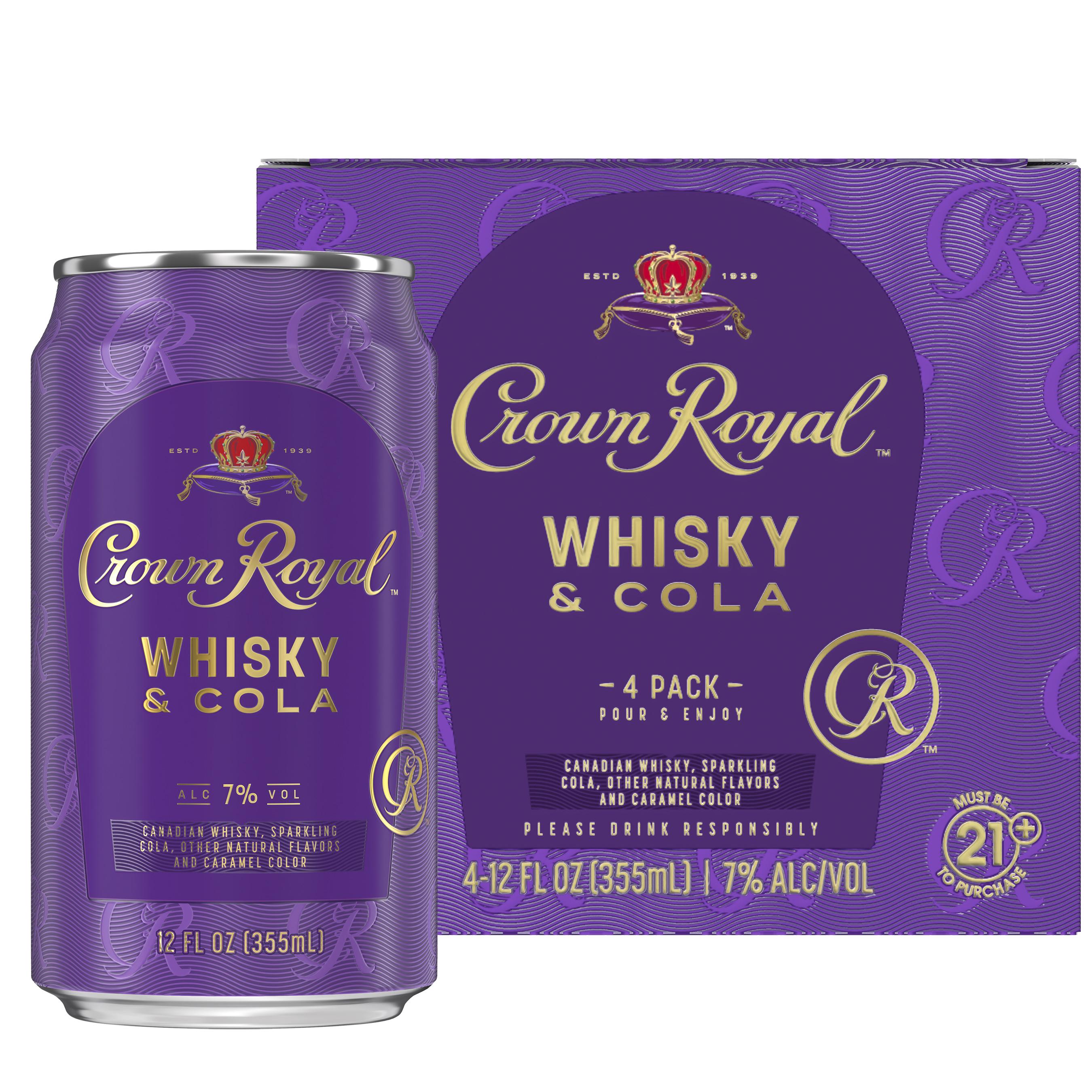 Crown Royal Whisky & Cola 4 pack