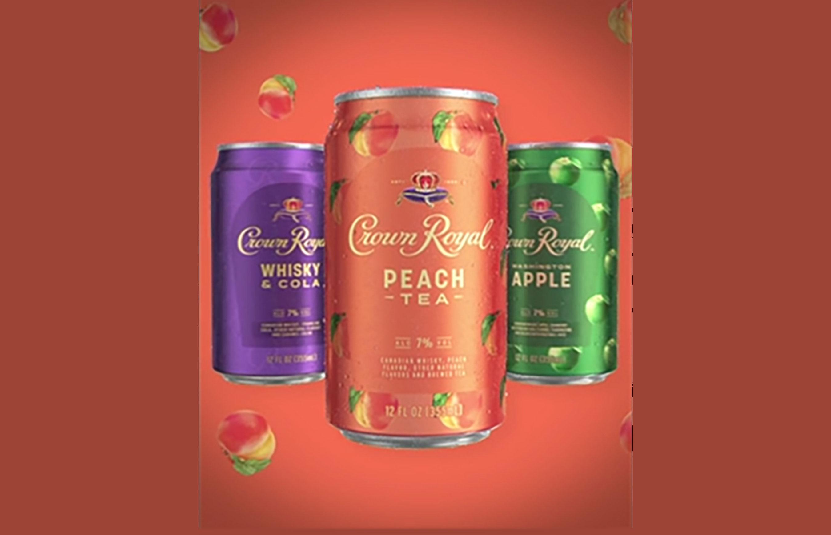 Peach Tea featuring Crown Royal whisky, peach flavor and brewed tea