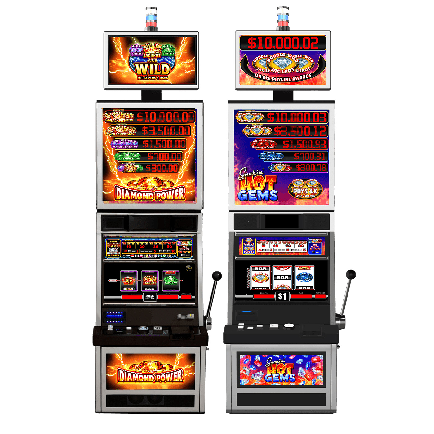 Everi will present eight new themes on its Player Classic cabinet. This includes Diamond Power Grand™ and Smokin' Hot Gems Grand™ with symbol-triggered progressives and increasing multipliers