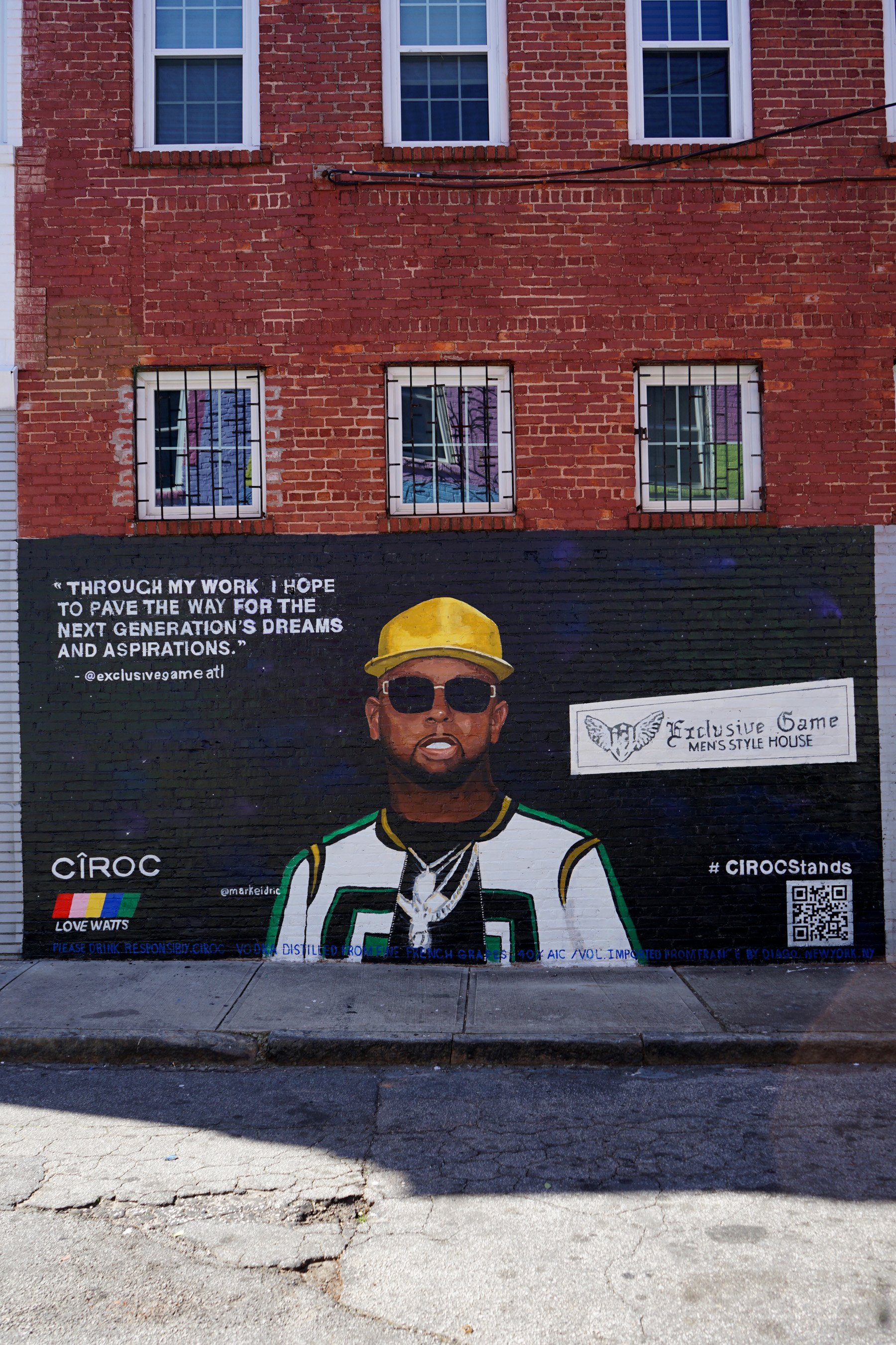 #CIROCStands Mural Of Teheran Jones Painted By Artist Markeidric In Atlanta To Celebrate Black Excellence