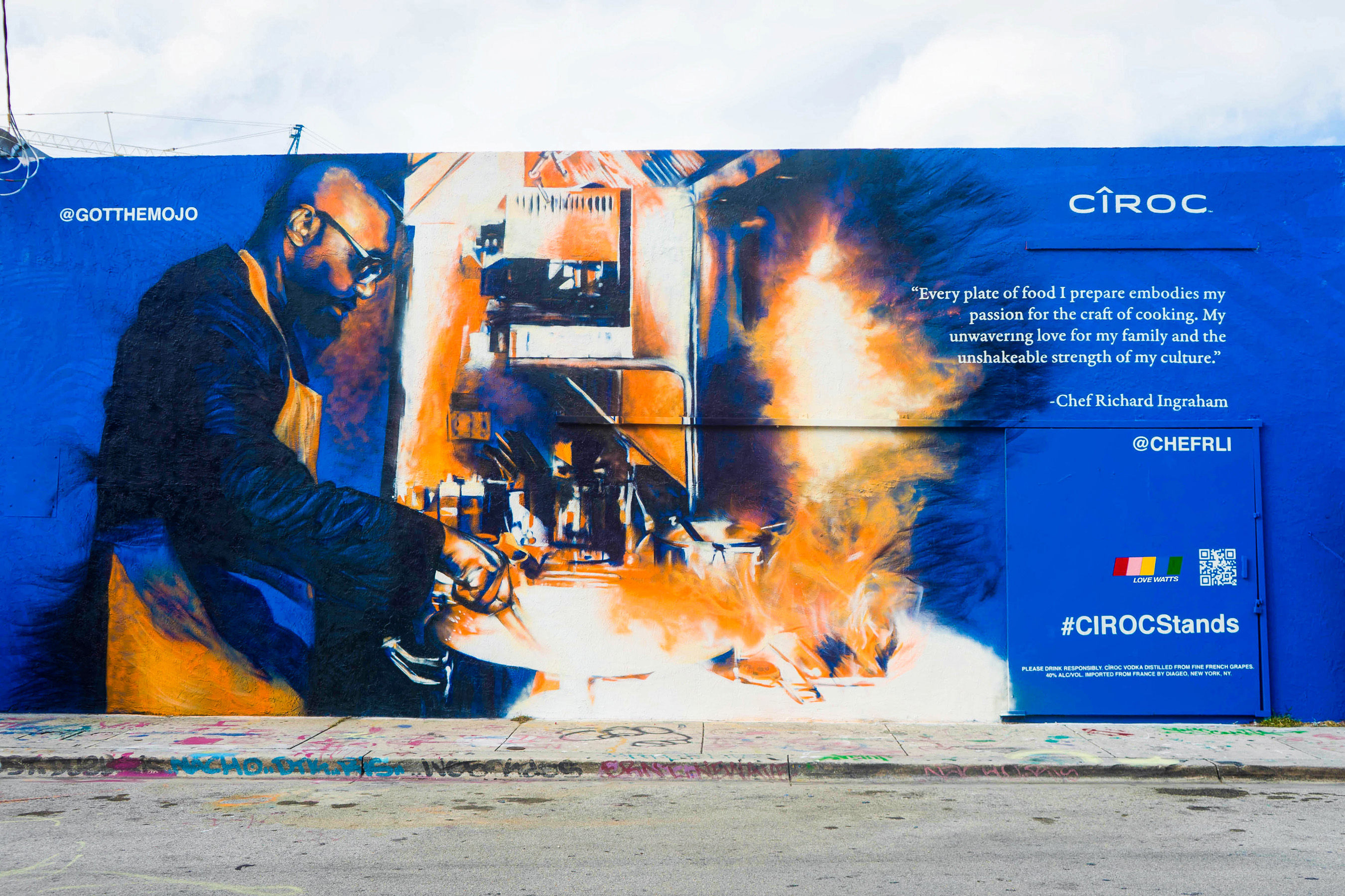 #CIROCStands Mural Of Richard Ingraham Painted By Artist Mojo In Miami To Celebrate Black Excellence