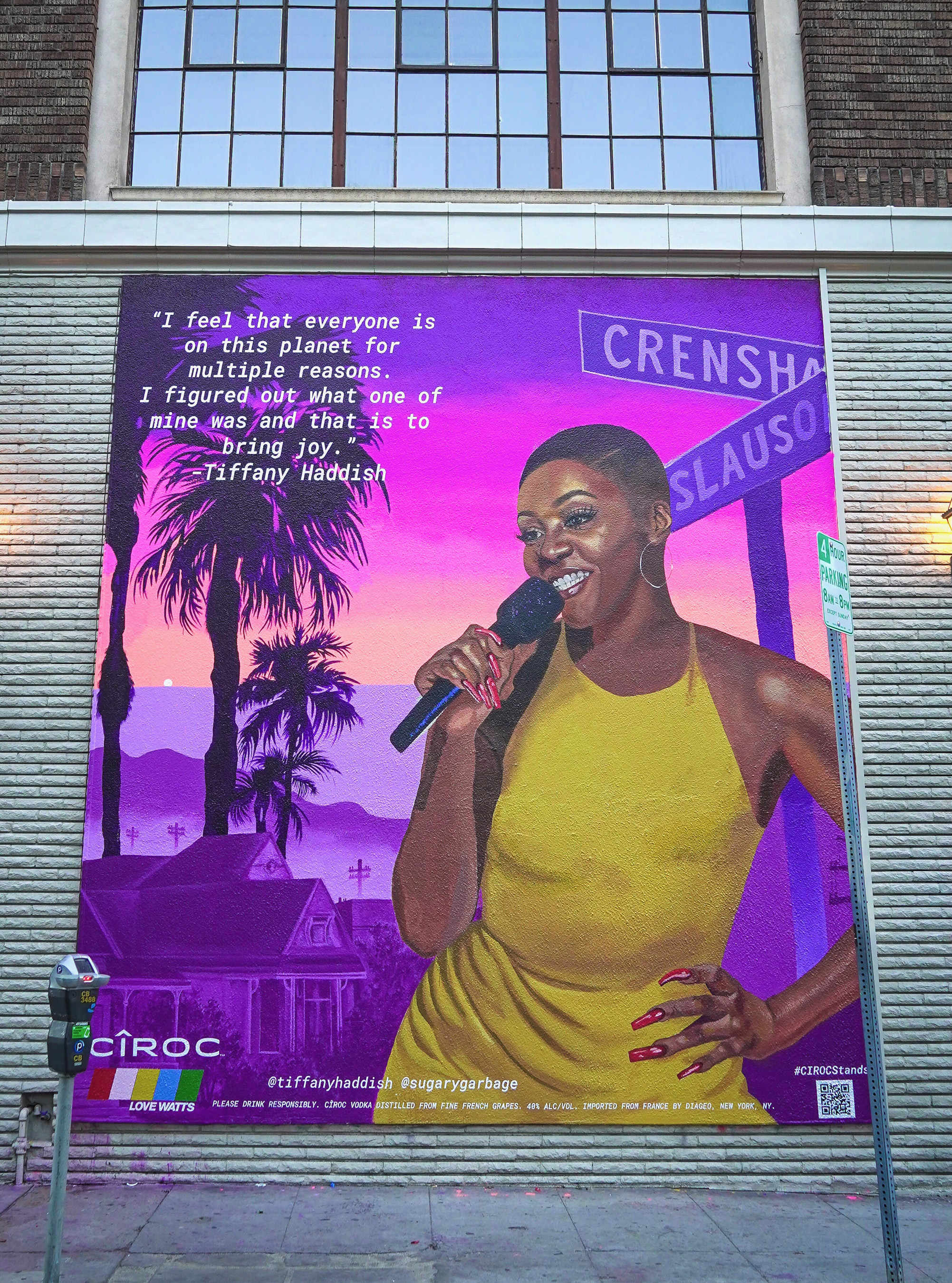 #CIROCStands Mural Of Tiffany Haddish Painted By Artist Kezia Harrell In Los Angeles To Celebrate Black Excellence
