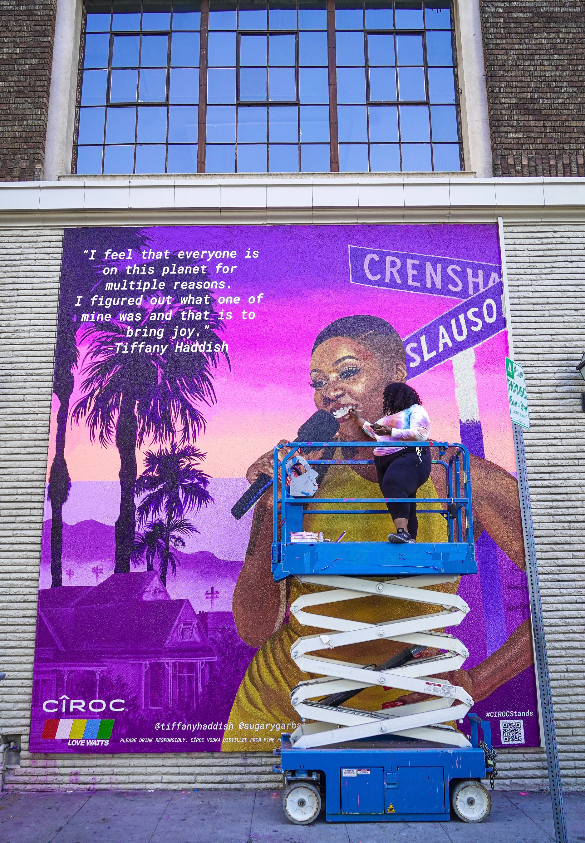 Artist Kezia Harrell Paints #CIROCStands Mural Of Tiffany Haddish To Celebrate Black Excellence