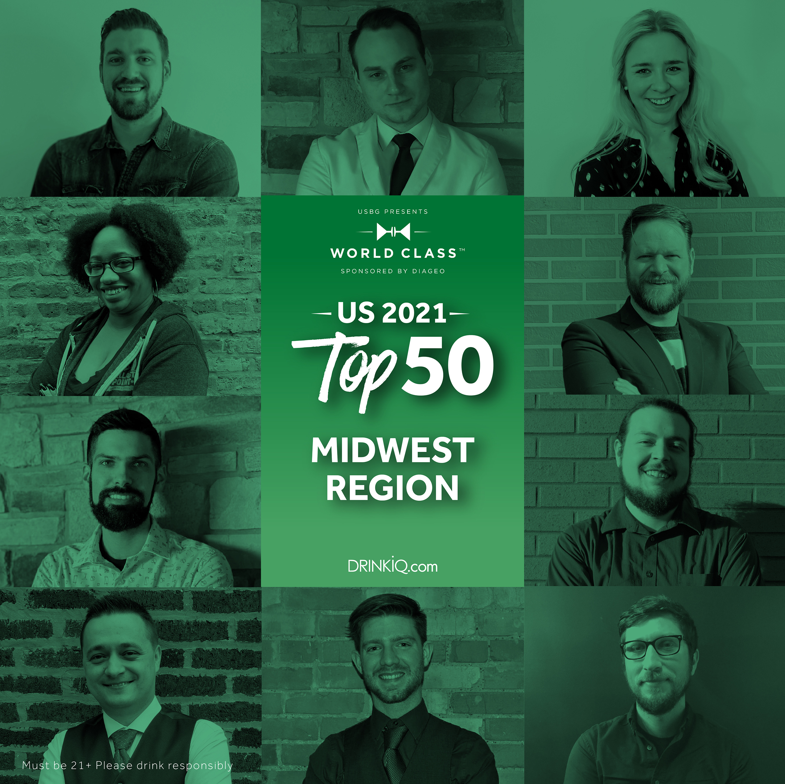 Who will be voted best of the Midwest? Only two of these master mixologists will go on to compete at Finals for the title of USBG World Class Bartender of the Year.