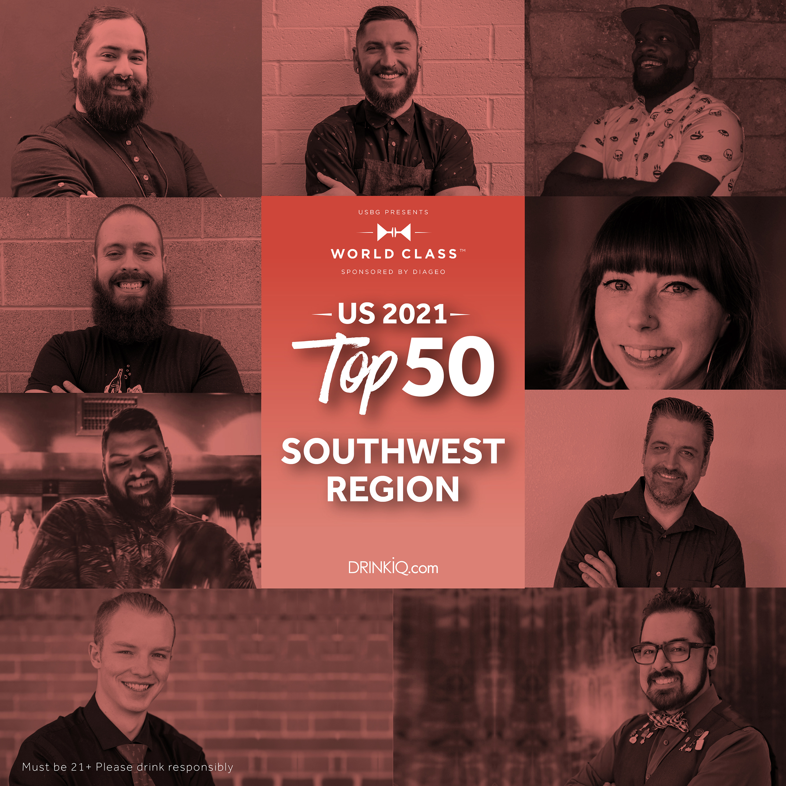 Which of these nine bartenders will represent the Southwest at Finals for the title of USBG World Class Bartender of the Year?