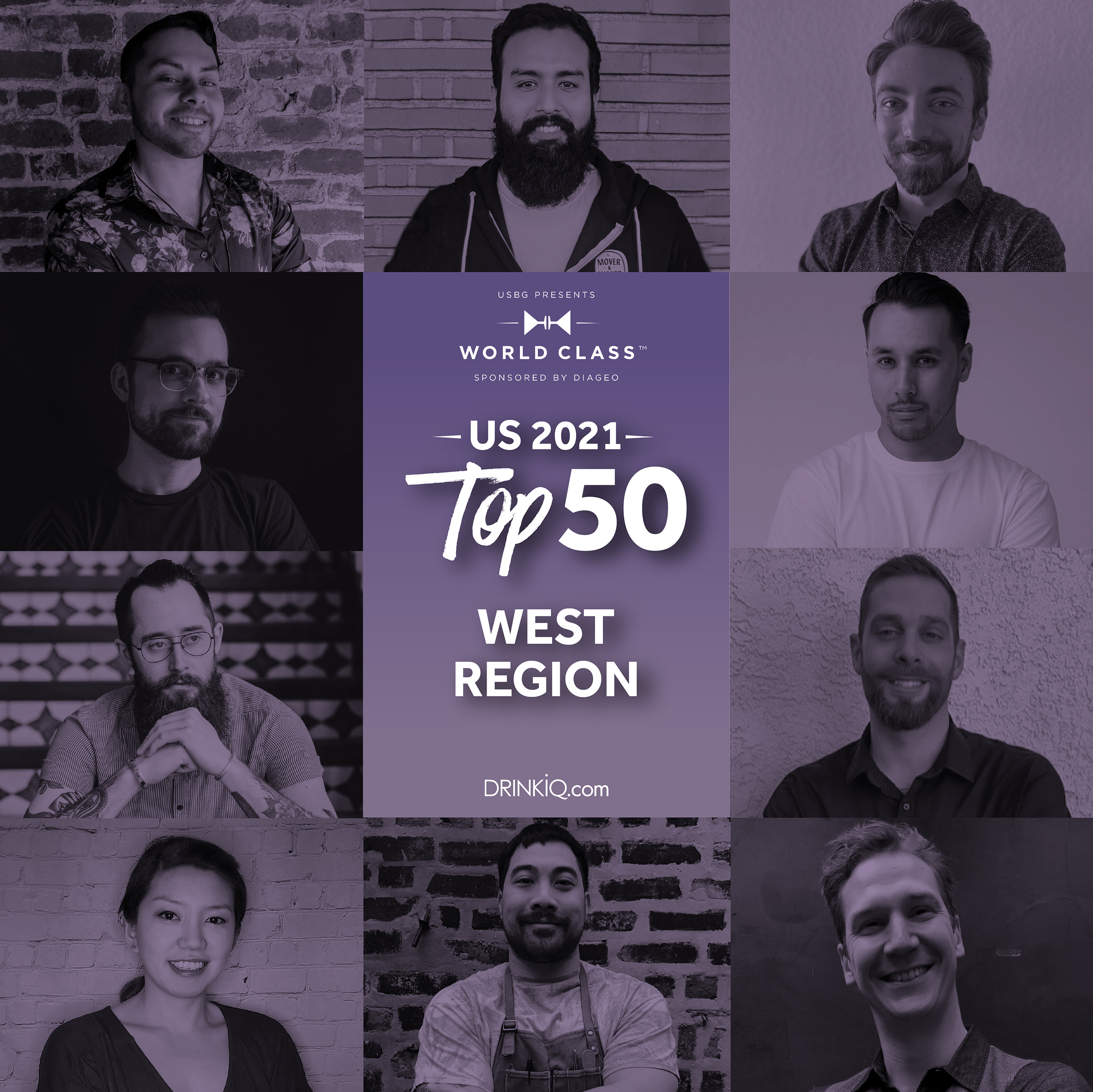 These ten bartenders are representing the best of the west. Which of these competitors will make it to the Finals for a chance at the USBG World Class Bartender of the Year title?