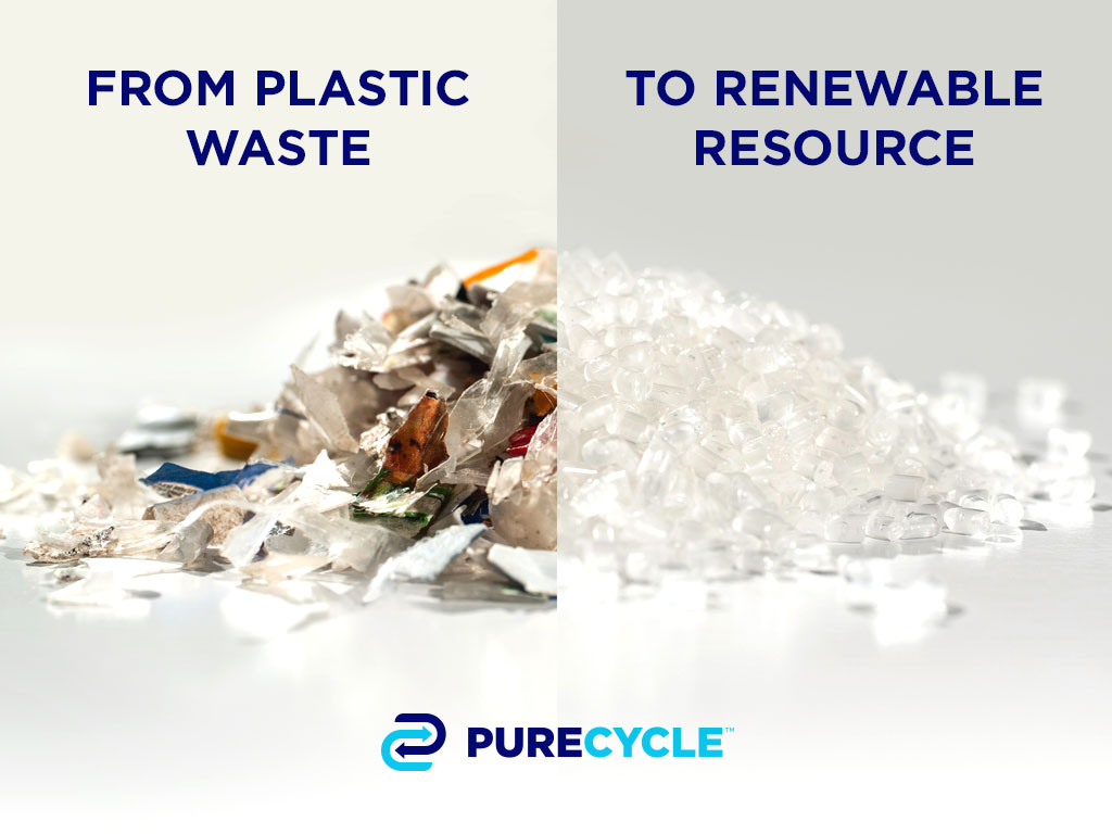 PureCycle is the first company to focus solely on recycling and purifying polypropylene, which is used in food and beverage packaging, consumer goods packaging, automobiles, electronics, home furnishings and a myriad of other applications.