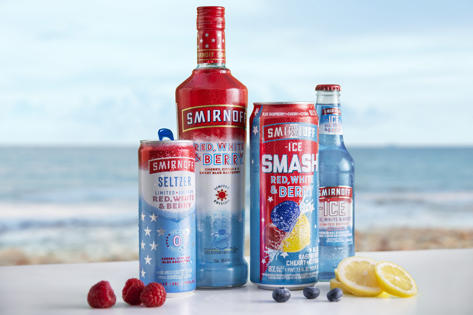 Smirnoff is unveiling a new addition to the Red, White & Berry family - Smirnoff Ice SMASH Red, White & Berry.