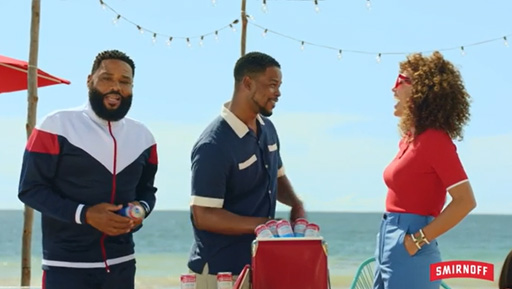 Smirnoff brand has partnered with Anthony Anderson to star in several new TV spots that will air nationwide beginning this month.