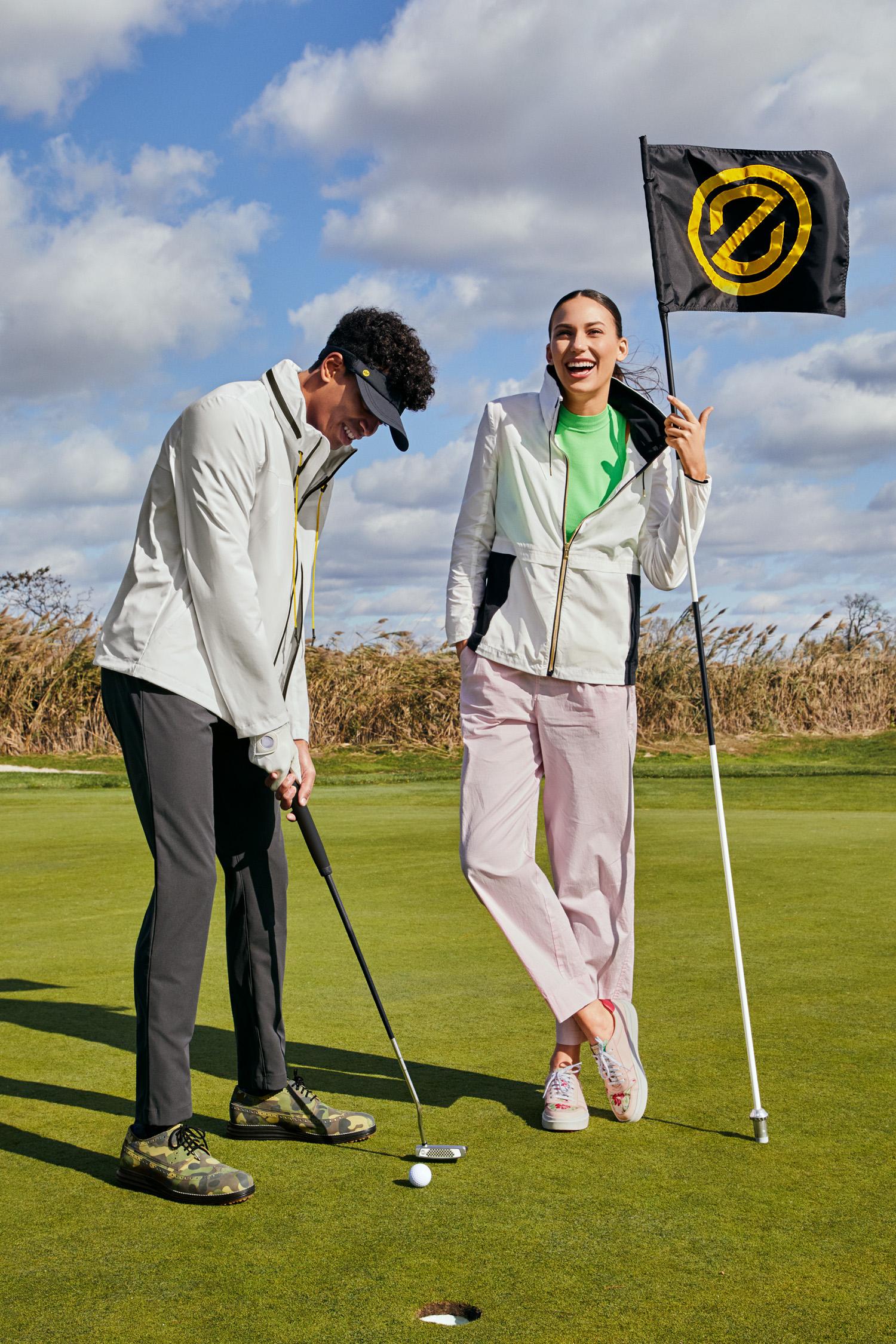 Cole Haan Men's ØriginalGrand Golf Shoe and Women's GrandPrø AM Golf Sneaker
