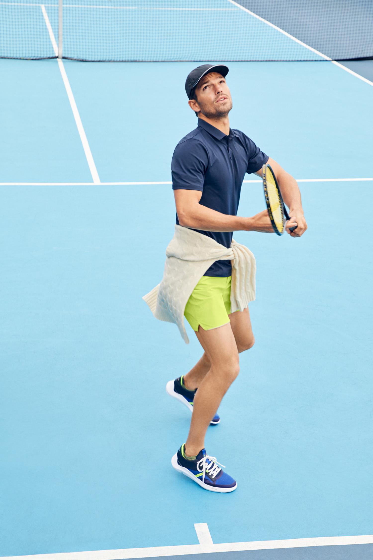 Cole Haan Men's ZERØGRAND Winner Tennis Sneaker in Navy Ink, $130
