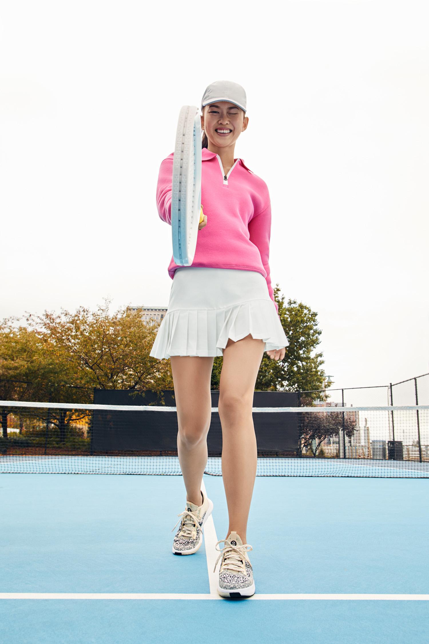 Cole Haan Women's ZERØGRAND Winner Tennis Sneaker in White Cap Grey, $130
