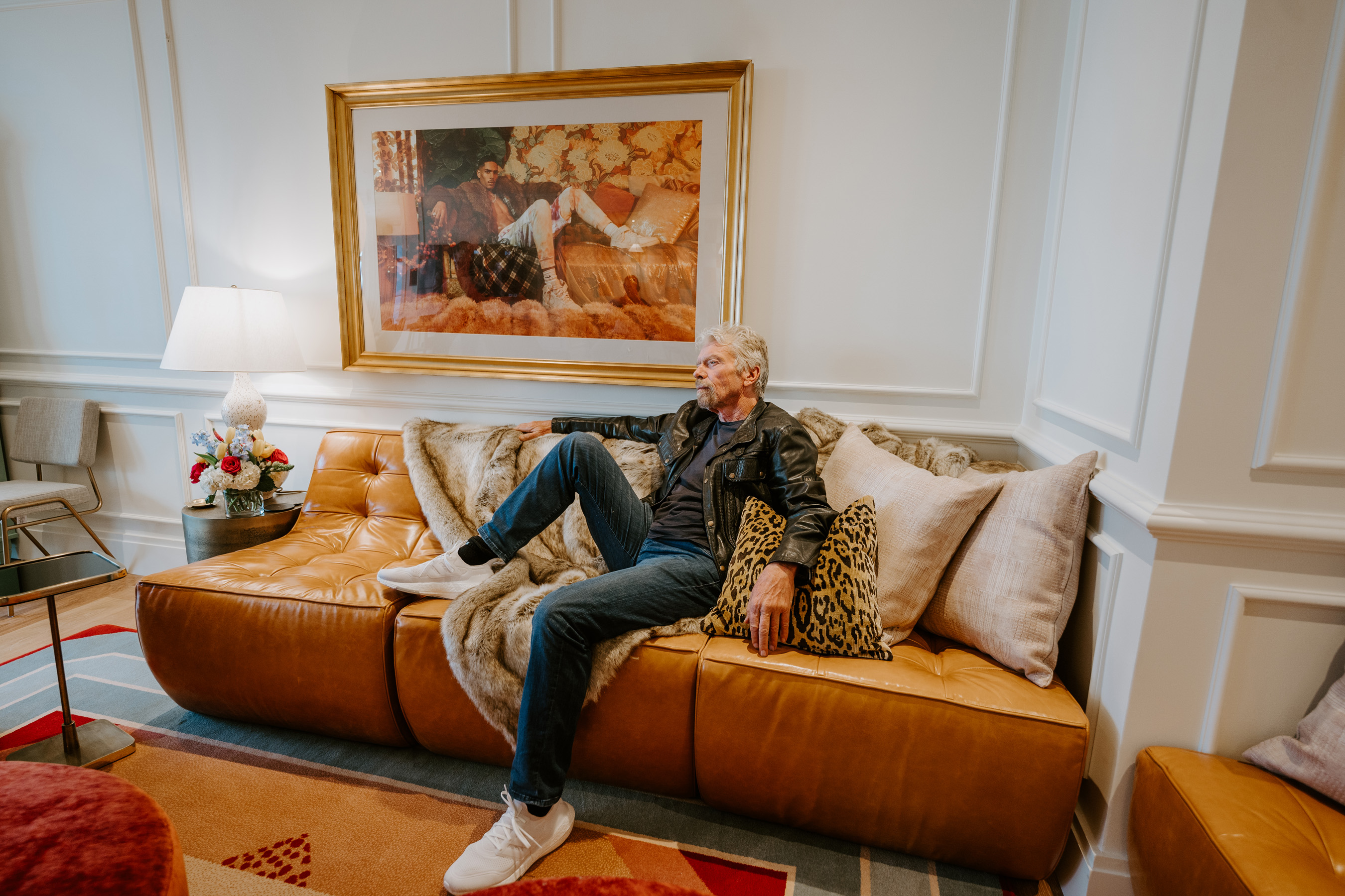 Sir Richard Branson strikes a pose at the new Virgin Hotels New Orleans