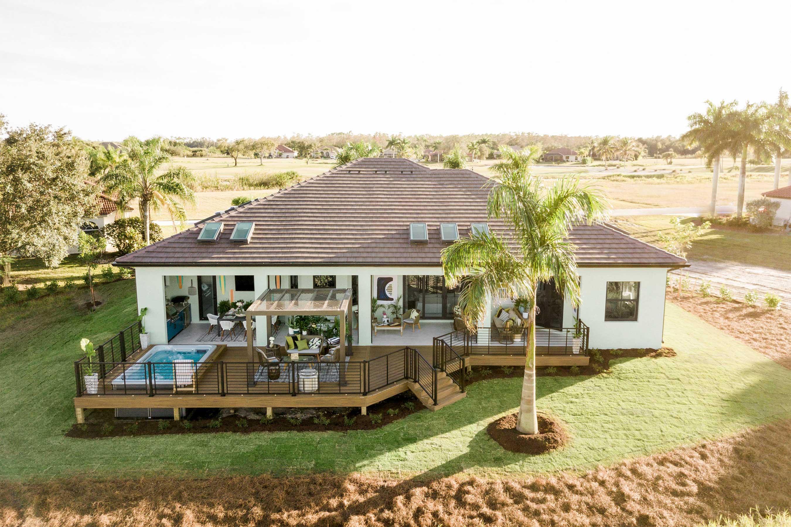 HGTV Smart Home 2021 Pool Deck + Backyard