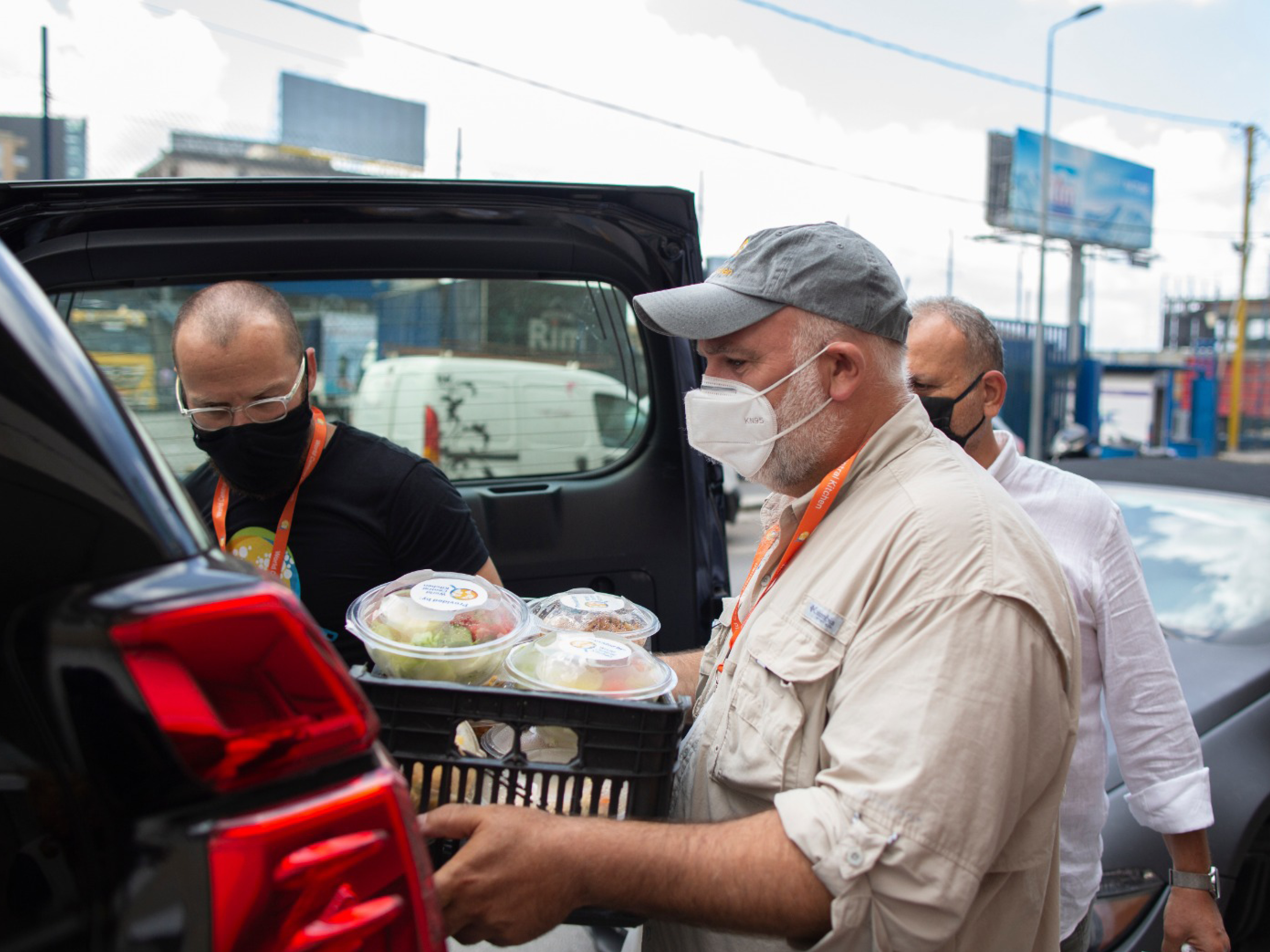 World Central Kitchen Founder, José Andrés in the midst of Disaster Relief delivery for victims of an explosion in Beirut, Lebanon.
