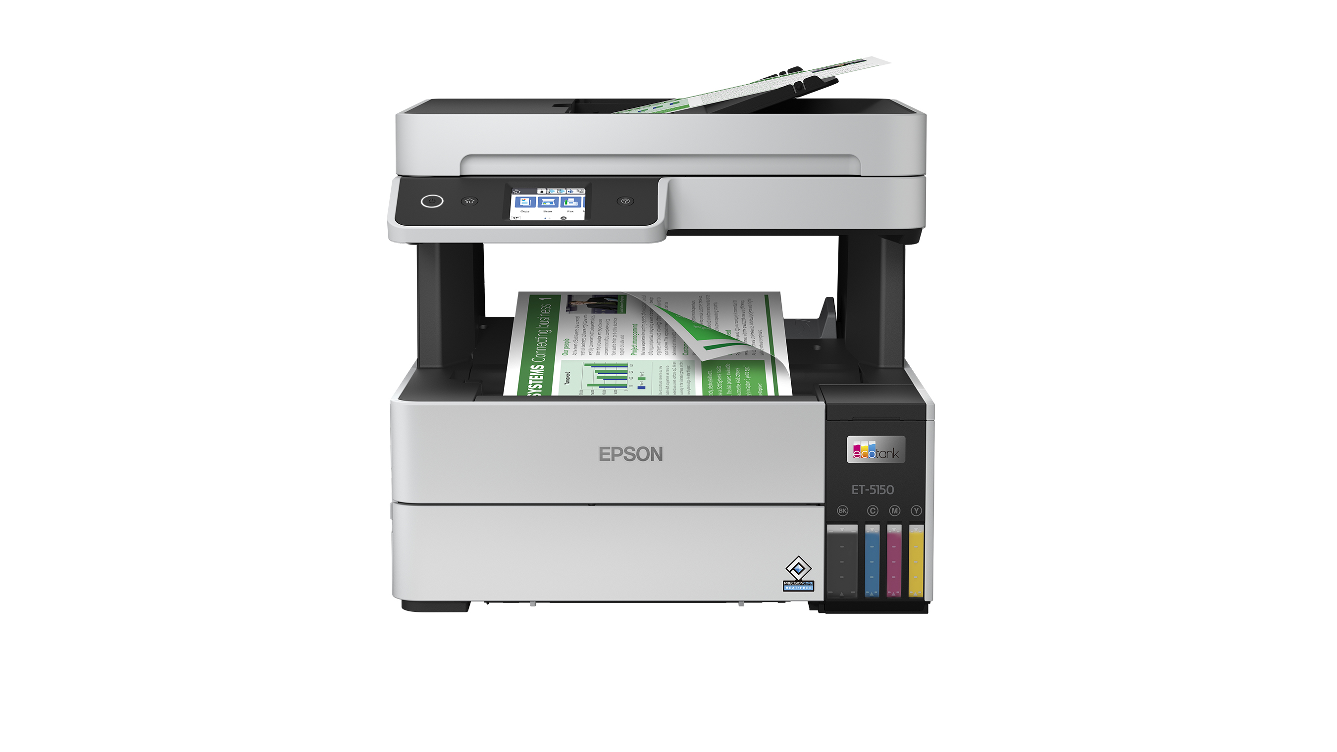 The EcoTank Pro ET-5150 delivers professional-quality prints face down for greater privacy and is a reliable solution for demanding, high-volume business printing.