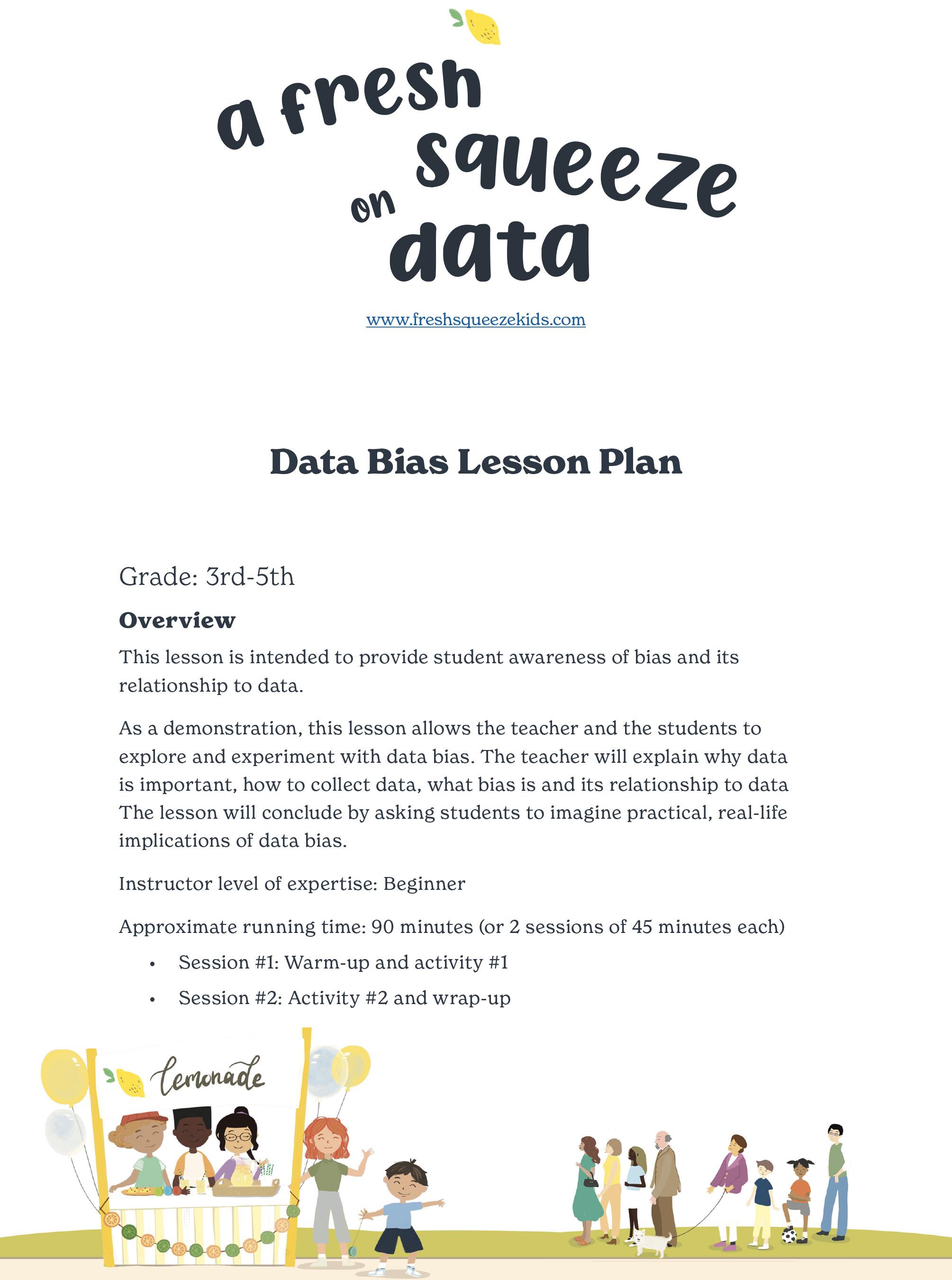 Data Bias Lesson Plan