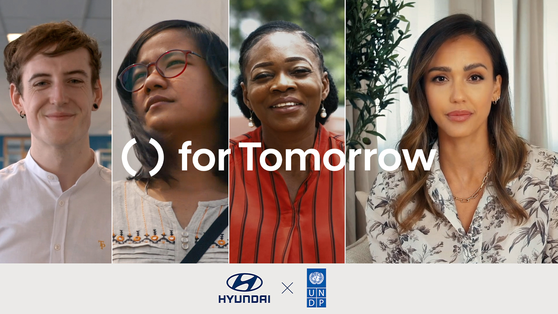 Hyundai Motor and UNDP Accelerator Labs jointly released a video featuring sustainable solutions submitted to the 'for Tomorrow' project, narrated by project ambassador Jessica Alba.