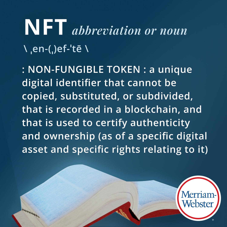 Merriam-Webster definition of NFT