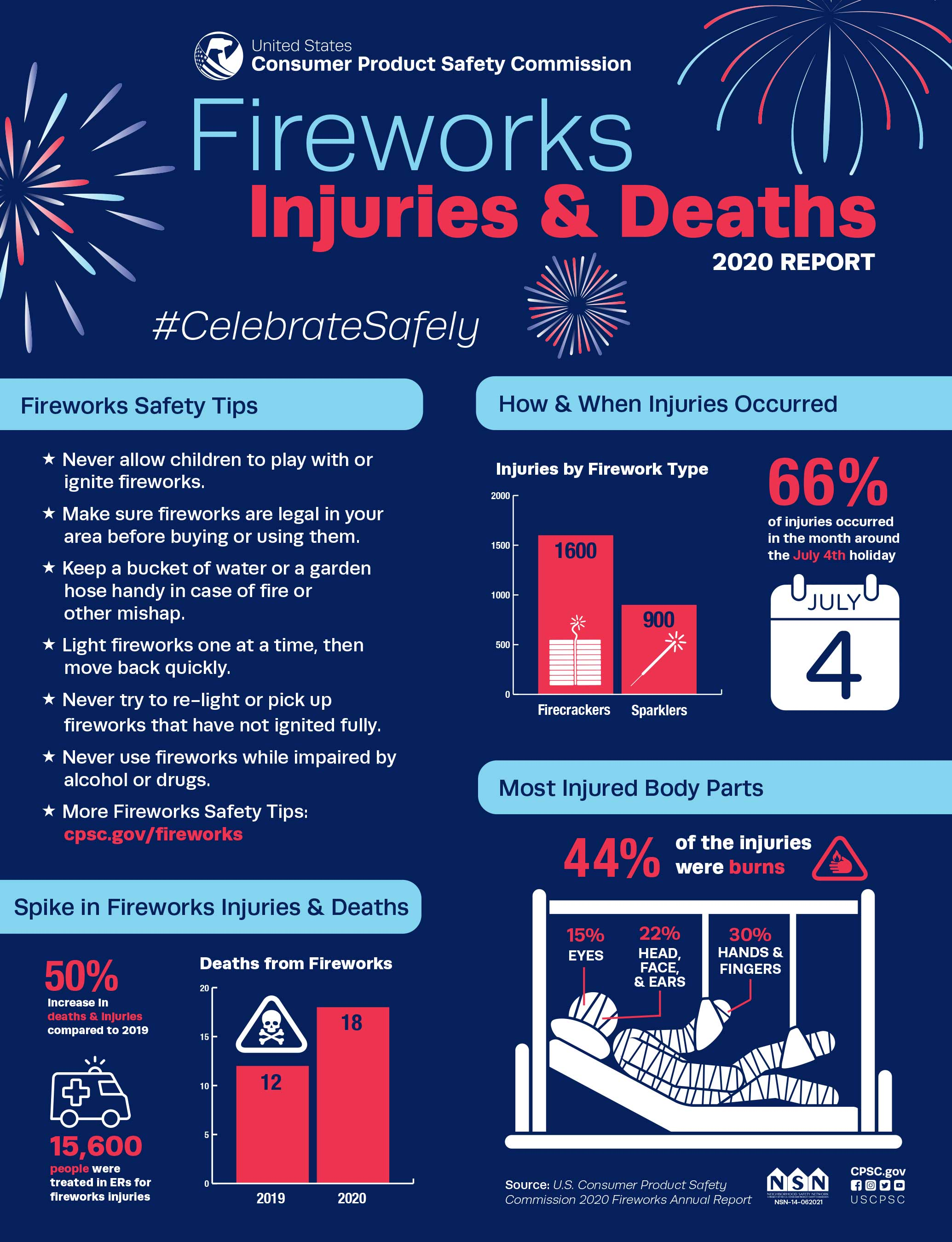 Fireworks Injuries and Deaths 2020 Report