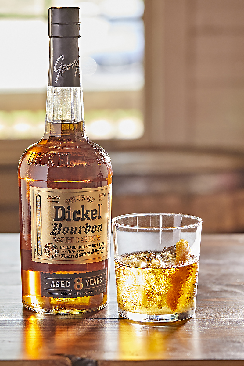 At 90 proof, bourbon fans can best enjoy Dickel Bourbon neat or on the rocks in addition to mixing it into some of their favorite cocktails like an Old Fashioned.