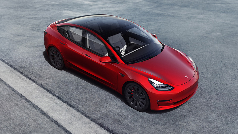 The most American car on Cars.com American Made-Index goes to the 2021 Tesla Model 3.