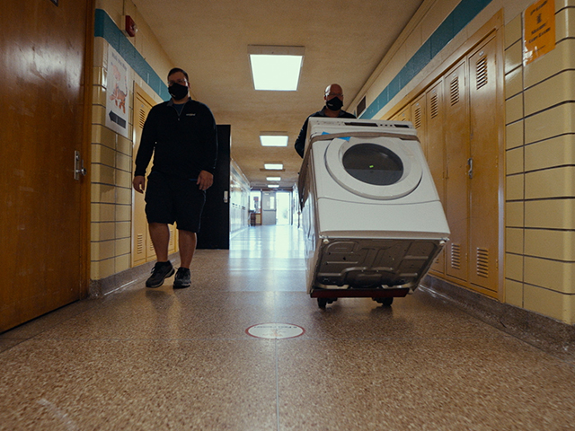 The Care Counts™ laundry program by Whirlpool brand is designed to remove one small but important barrier to attendance - access to clean clothes - by installing washers and dryers in schools nationwide.