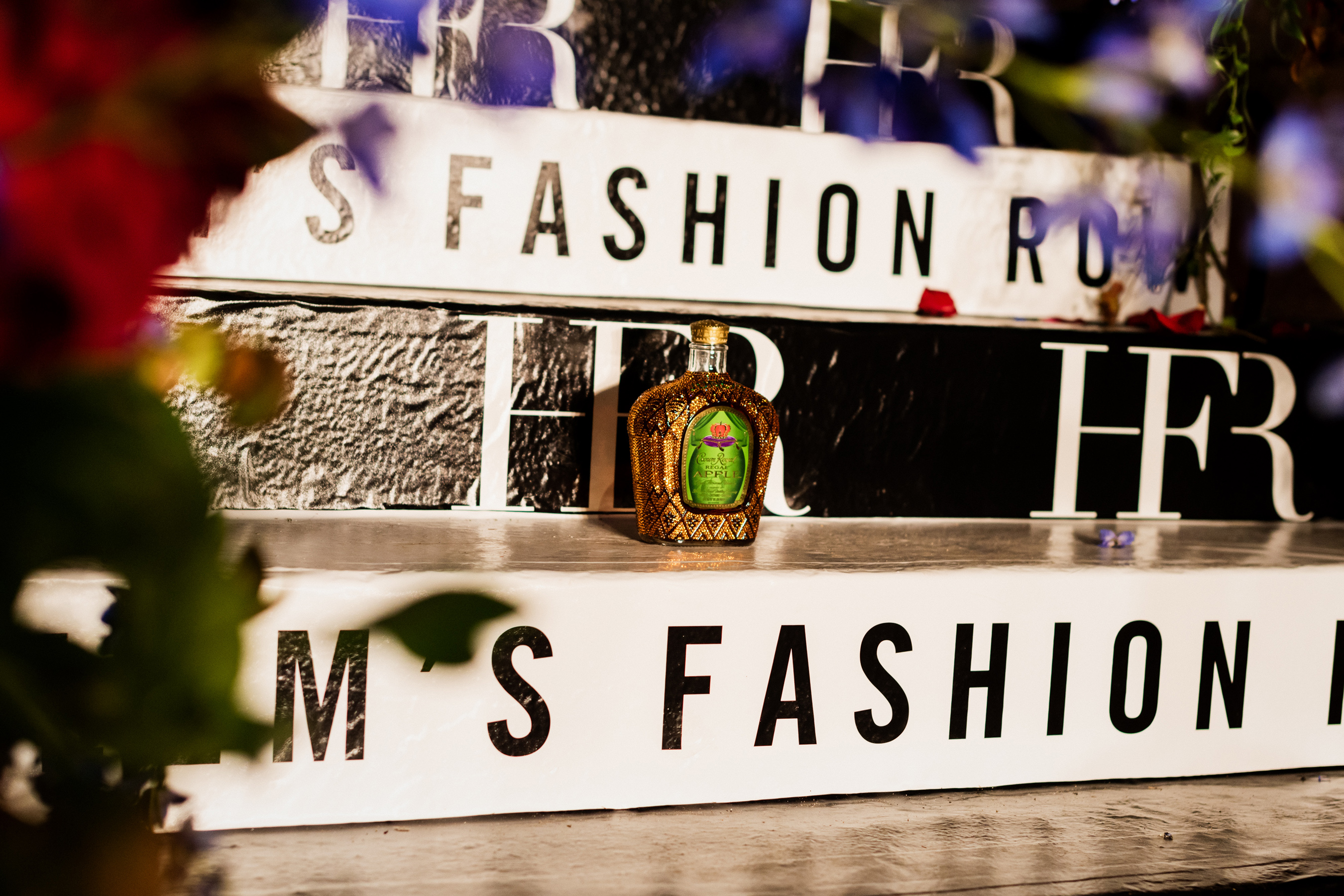 Crown Royal Regal Apple celebrates Black excellence and designers who were awarded a $10,000 grant and a customized Crown Royal bottle during HFR's Style Awards at New York Fashion Week.