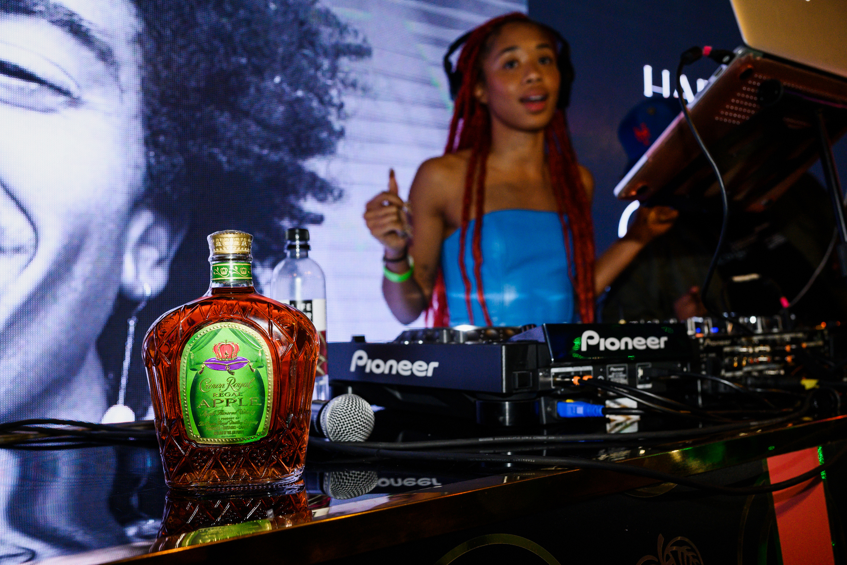 During the Crown Royal Regal Apple x Harlem's Fashion Row after-party, deejay Kitty Ca$h spinned into the evening while guests sipped Crown Apple cocktails.