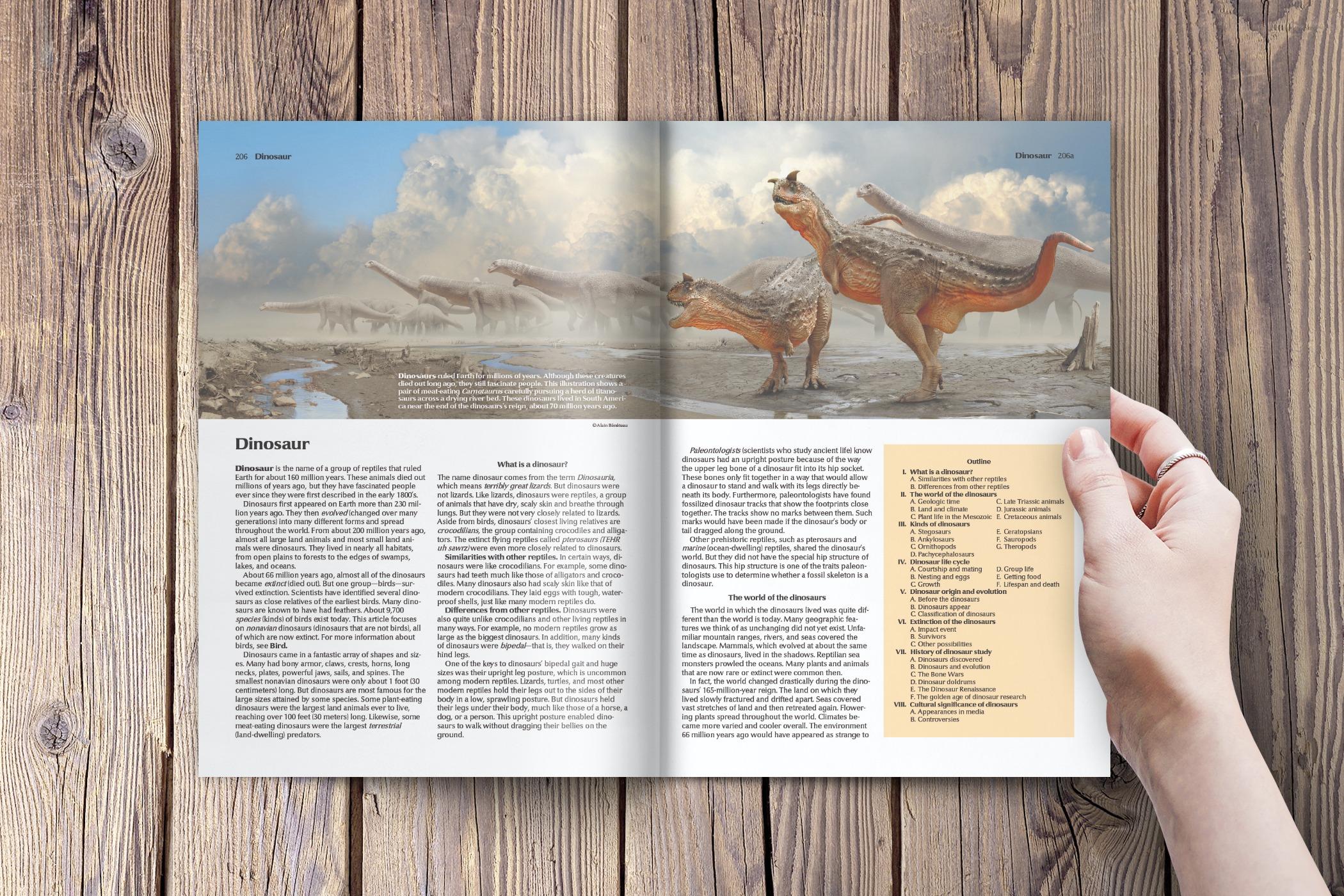 The World Book Encyclopedia-Dinosaur Article.