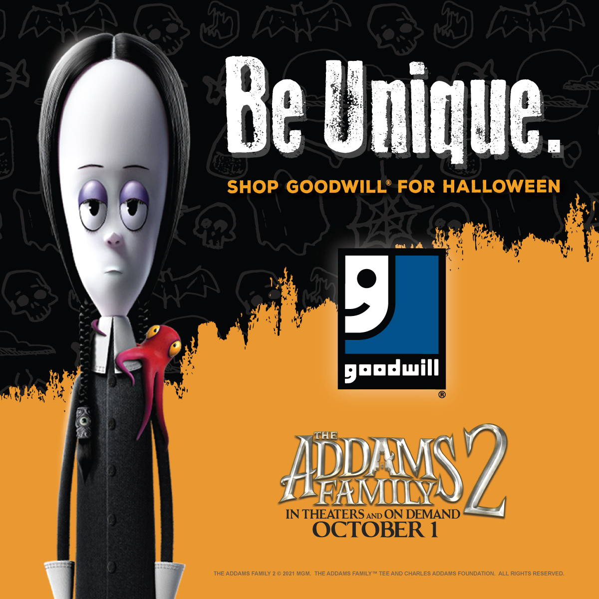 Be unique and find a spooky costume at your local Goodwill store this Halloween season.