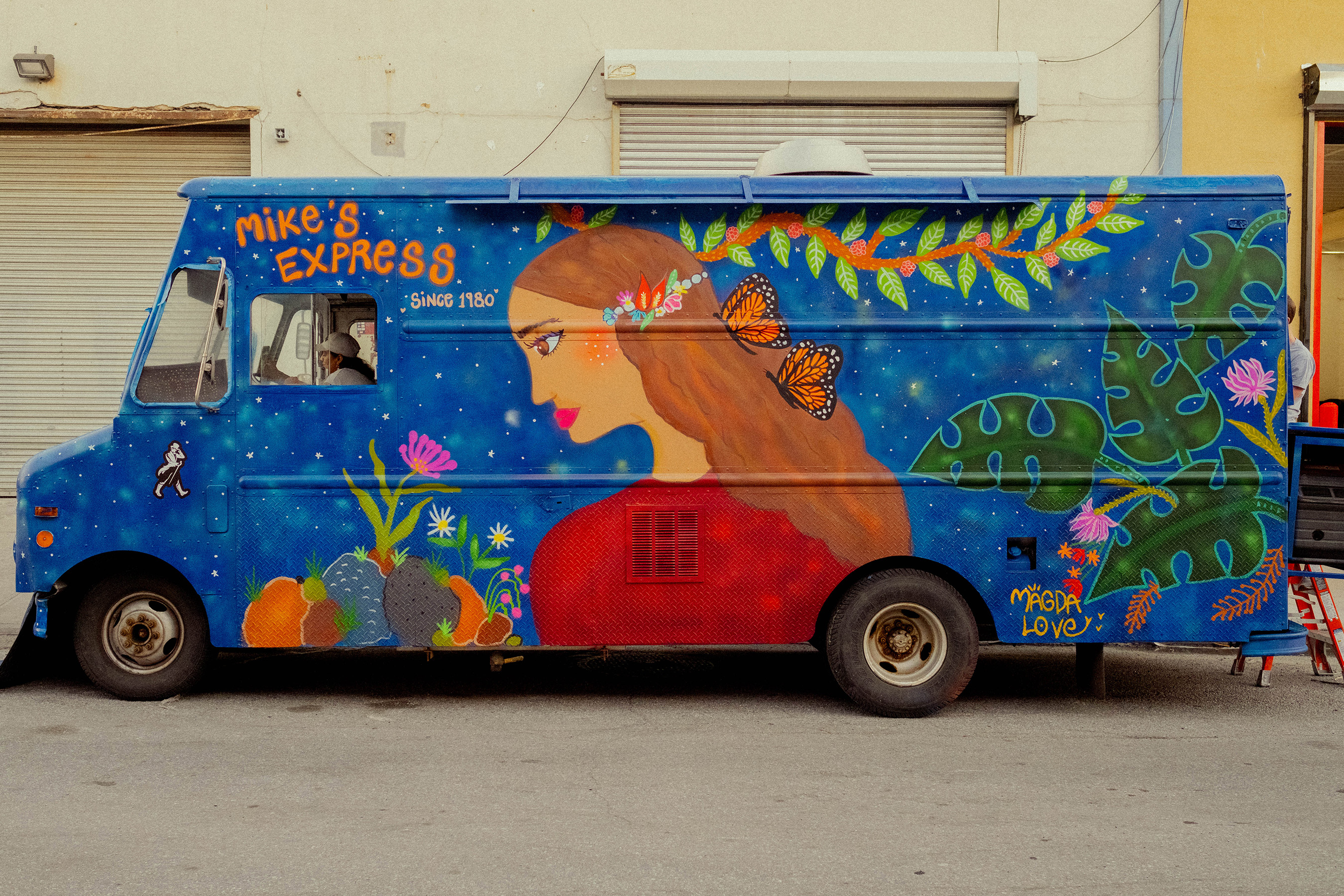 Mike's Express Truck After Painting By Magda Love