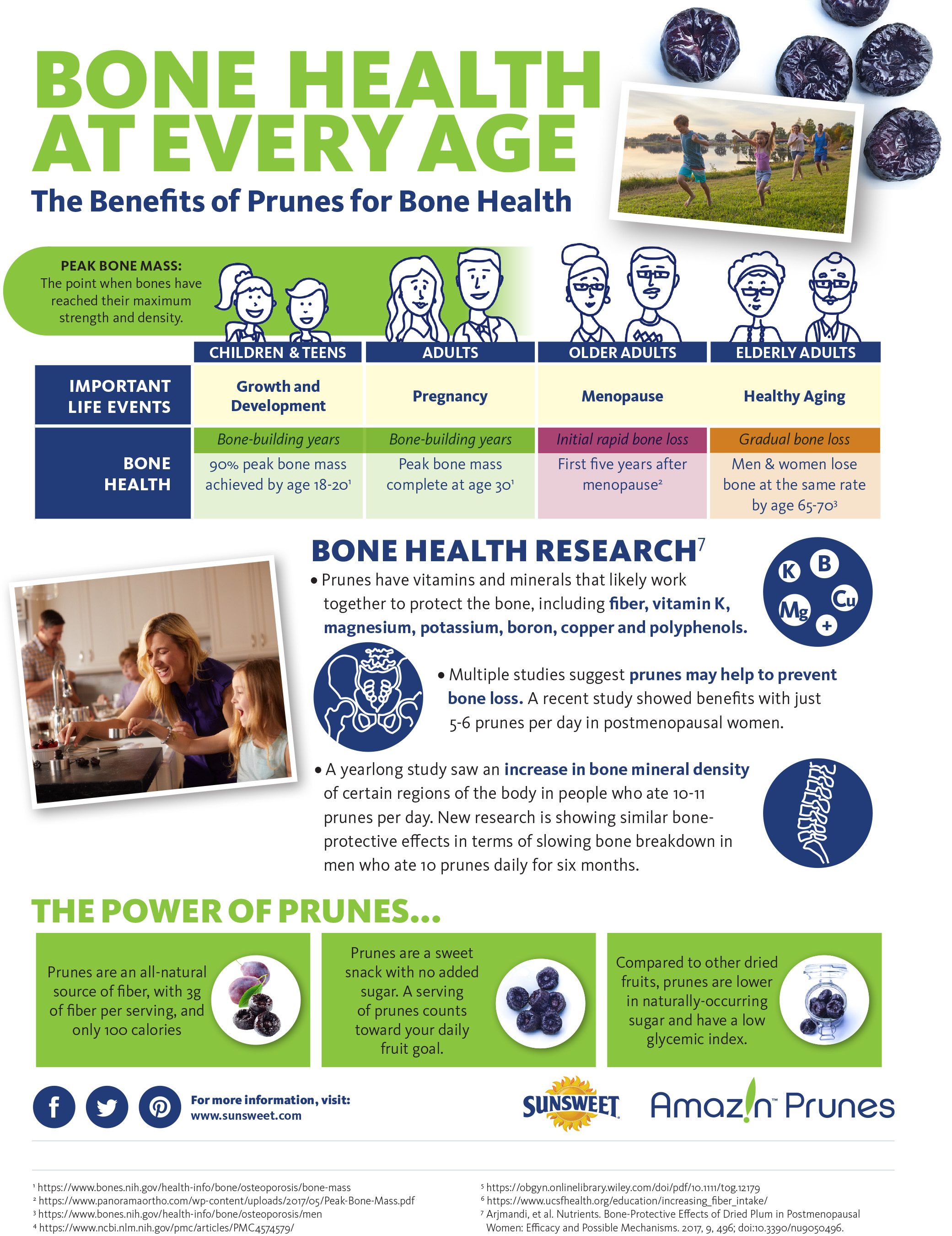 Sunsweet Bone Health Infographic