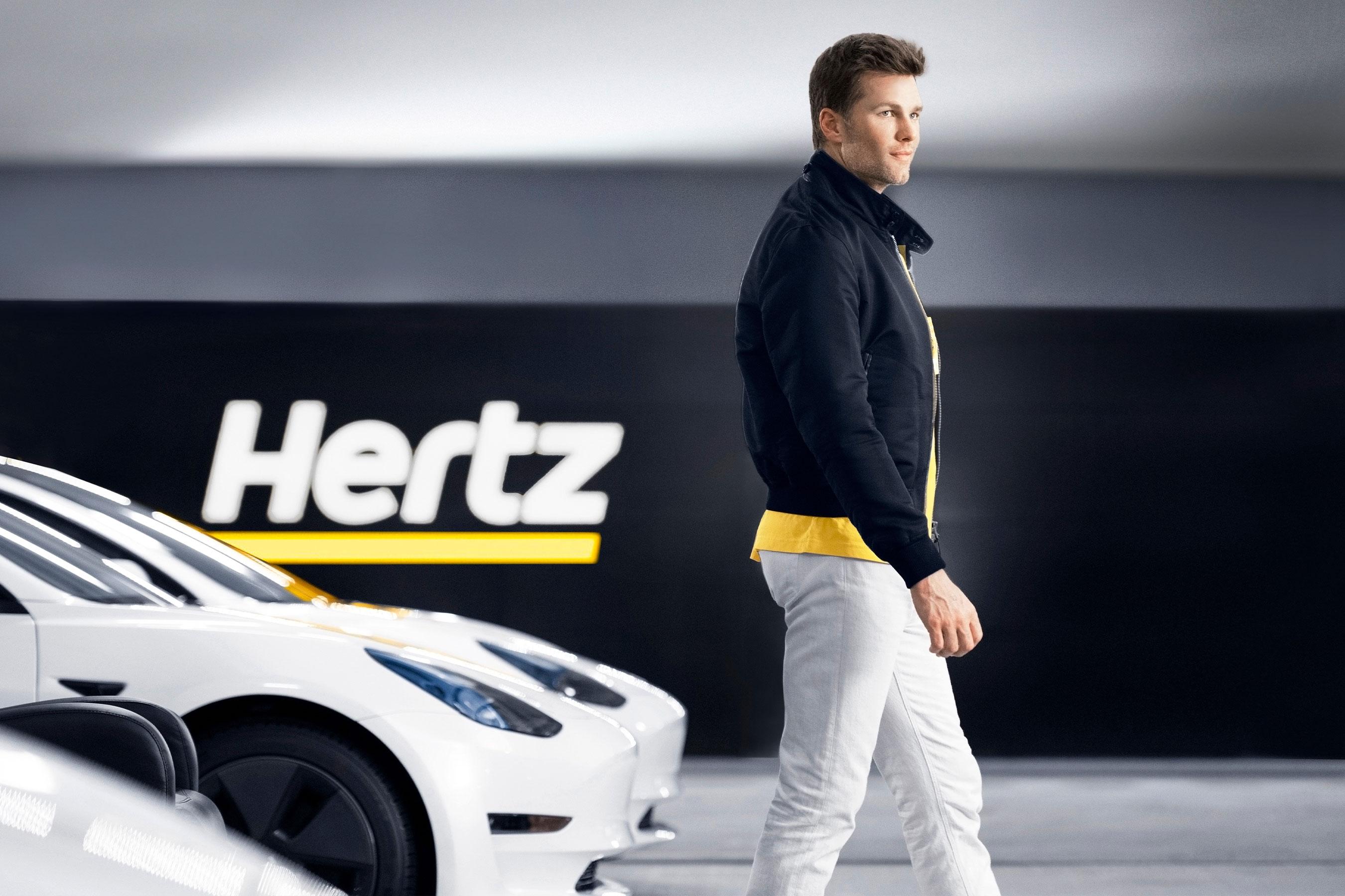 """Hertz, Let's Go!"" campaign featuring seven-time Super Bowl champion Tom Brady. Photo by E.R. Davidson"