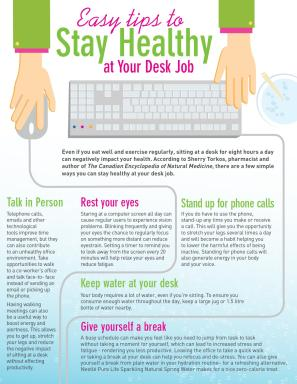 Easy Tips to Stay Healthy at Your Desk Job