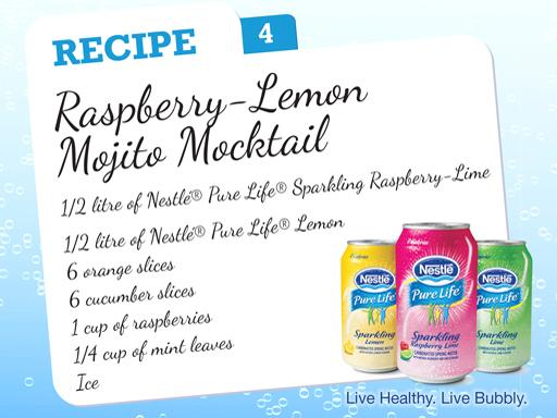 Raspberry-Lemon Mojito Mocktail