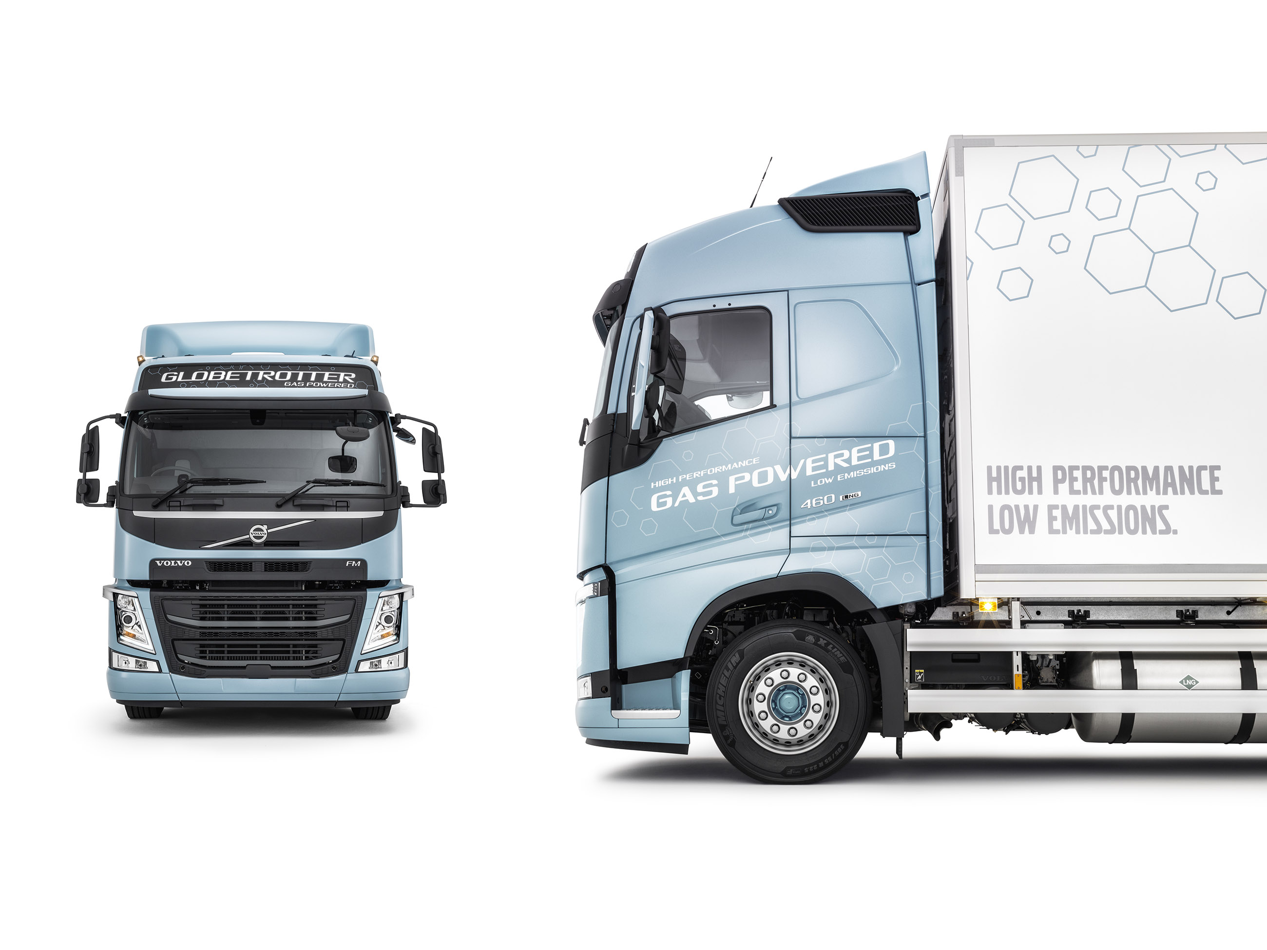 volvo trucks new gas trucks cut co2 emissions by 20 to 100. Black Bedroom Furniture Sets. Home Design Ideas