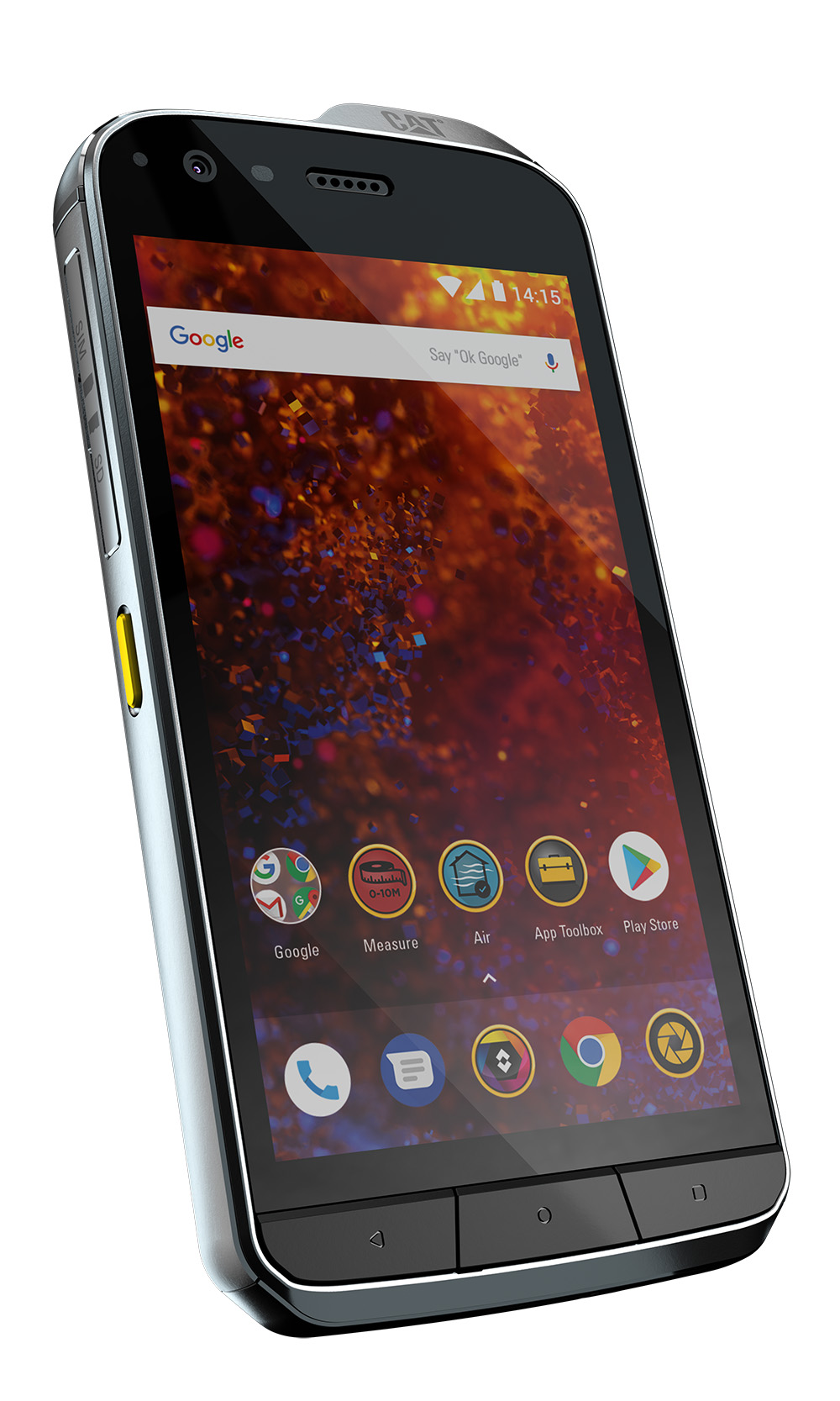 The New Cat S61 Rugged Smartphone Front Angled