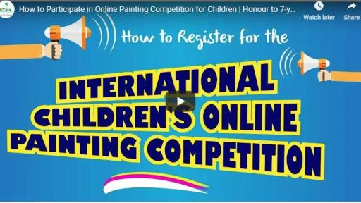 How to register for the International Children's Online Painting Competition