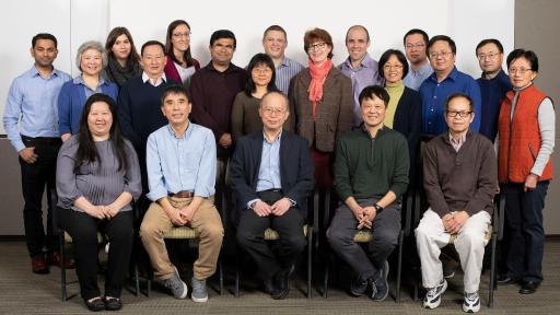 Group shot of M7824. M7824, an investigational bifunctional immunotherapeutic, was discovered and developed in-house by a team of scientists and medical thought leaders at Merck. Pictured above are members of the M7824 research team located in Billerica, Massachusetts, US
