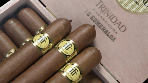 Box of Trinidad Esmeralda Cigars.