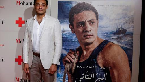 "Image of The producer and actor Mohamed Aly presents in Barcelona ""The Other Land"", an exceptional film about the tragedy of illegal immigration in the Mediterranean"