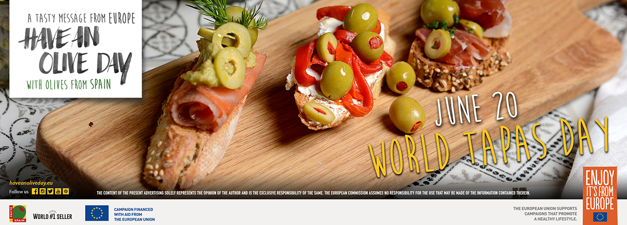 "Have An Olive Day Ambassador Chef José Andrés' introduces irresistible olive Tapas recipes to mark  ""World Tapas Day"""