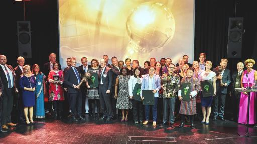 Image of All winners and award presenters of the Energy Globe World Awards 2019
