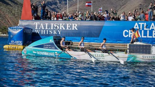 Talisker Whisky Atlantic Challenge Rowhhome set off for the start of the Talisker Whisky Atlantic Challenge