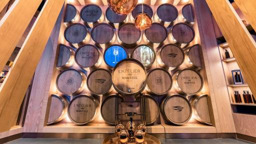 Image of L'Atelier Martell Shenzhen Wall of barrels
