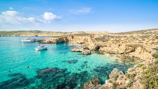 Image of World famous blue lagoon Comino island
